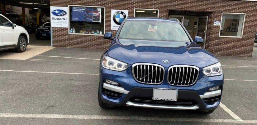 2019 BMW X3 rear damage repair