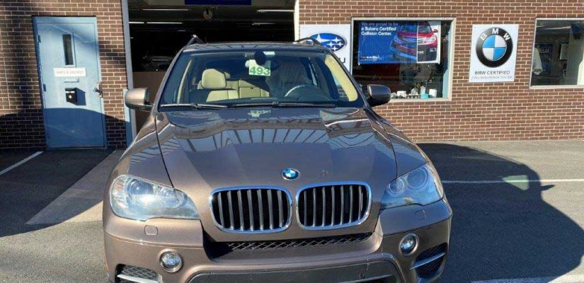 2013 BMW X5 right side damage repair