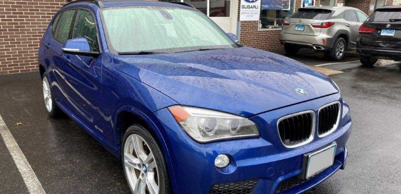 2014 BMW X1 rear bumper repair